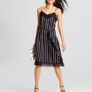 Who What Wear Striped Lace Slip Dress S NWT